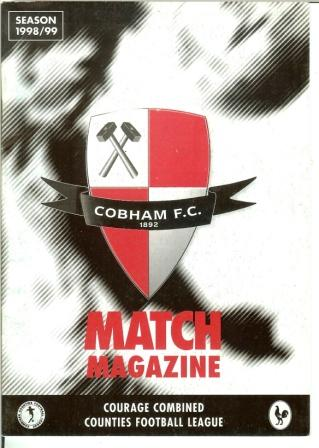 Cobham FC thanks Richard Pearce and Jojo for designing and producing the programme front cover.