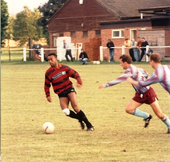 Trevor Mason in a pre-season freindly against Tuffley Rovers.