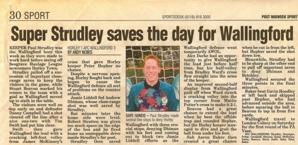 From newspaper dated Wednesday October 15 2003 (www.getreading.co.uk)