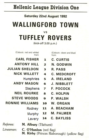 Actual Wallingford team shown