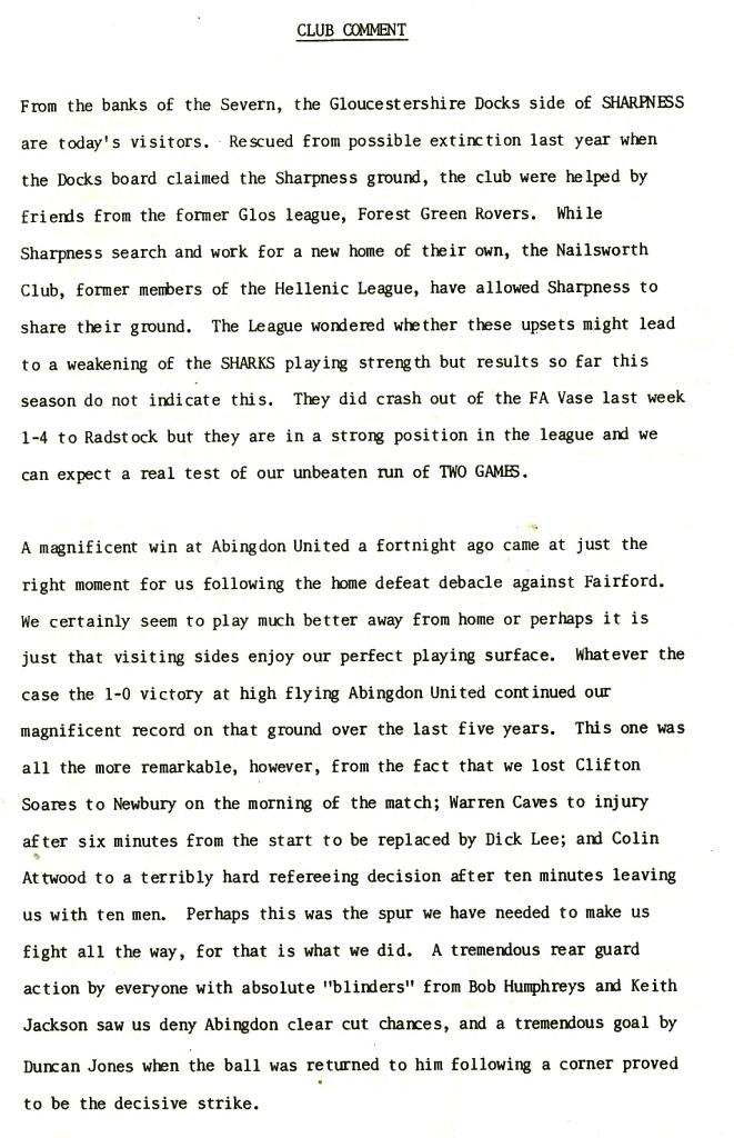 88/89 Sharpness H | Wallingford Football History