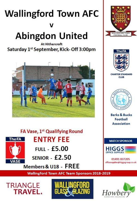 WTAFC v Abingdon Utd Poster 201819